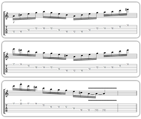 Advanced Guitar Tabs